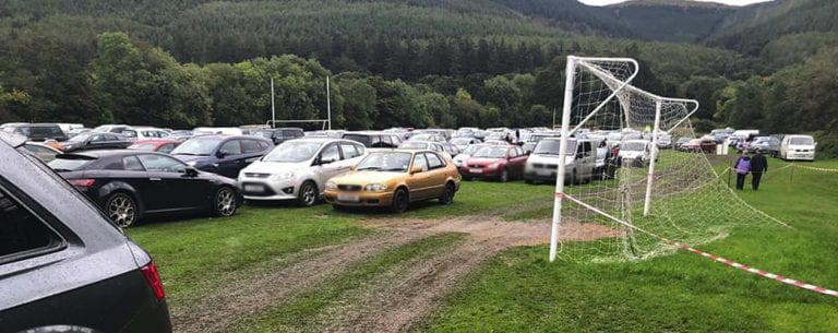 Club is left dismayed by damage to football pitches