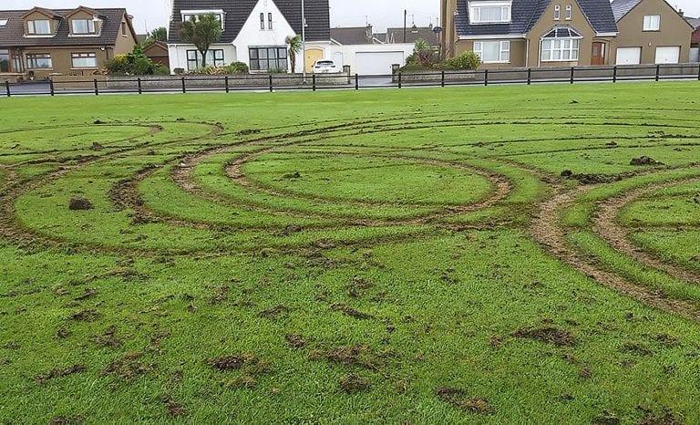 Vandals churn up esplanade