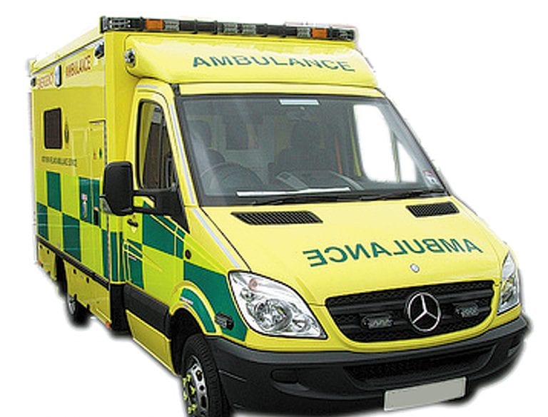 Ambulance from Lisburn dispatched to Newcastle