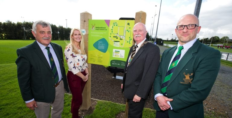 Rugby club celebrates opening of new community walking trail