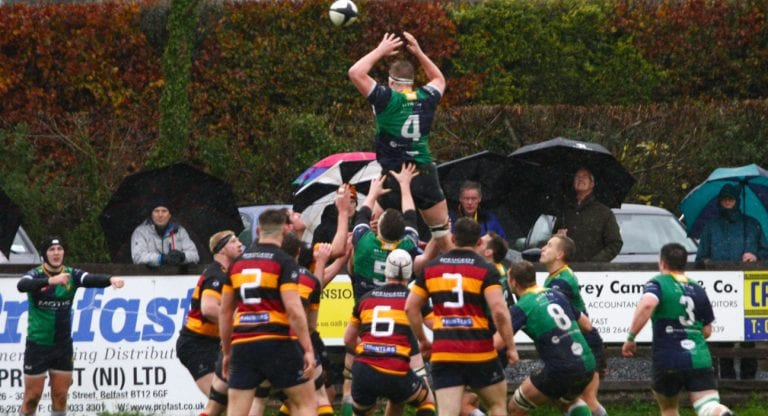Ballynahinch are brilliant in the relentless rain
