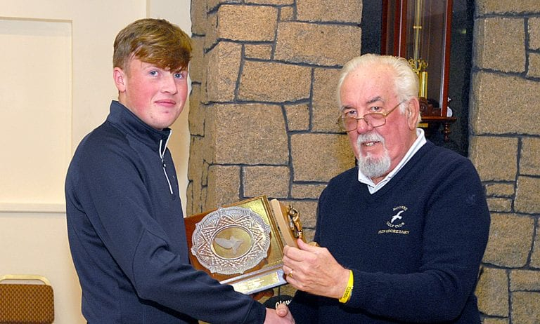 Awards presented to talented young golfers