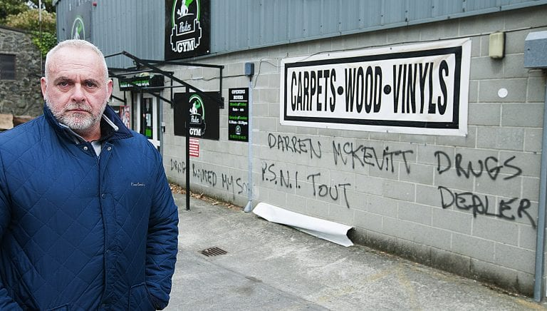 Businessman is 'devastated' by graffiti attack on gym