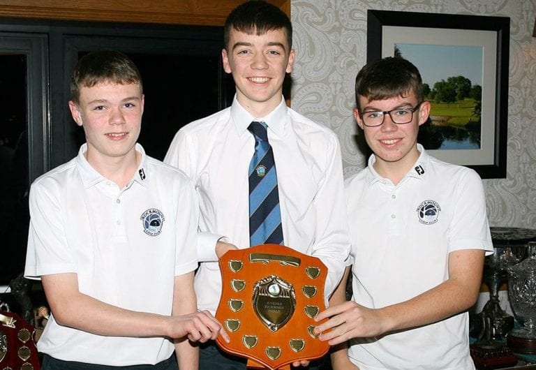 Rockmount club's juvenile golfers receive end of season awards