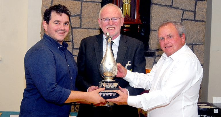 Trophies presented at Mourne Golf Club's end of season event