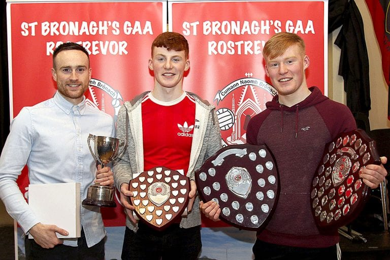 Rostrevor GAC presents awards to their young players