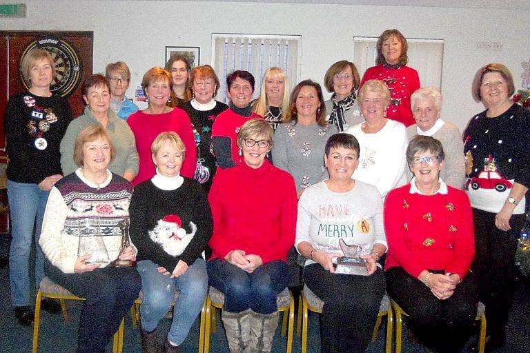The ladies of Crossgar Golf club enjoy their Christmas get-together
