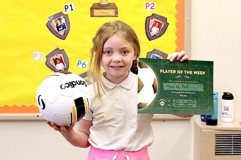 Local primary school children rewarded for football achievements