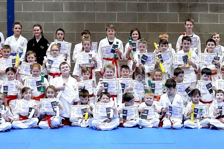 Down Community JuJitsu Clubs' gradings at Ballynahinch and Leitrim