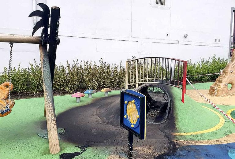 Arson attack on play park