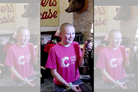 Daring Kyra braves the shave for charity
