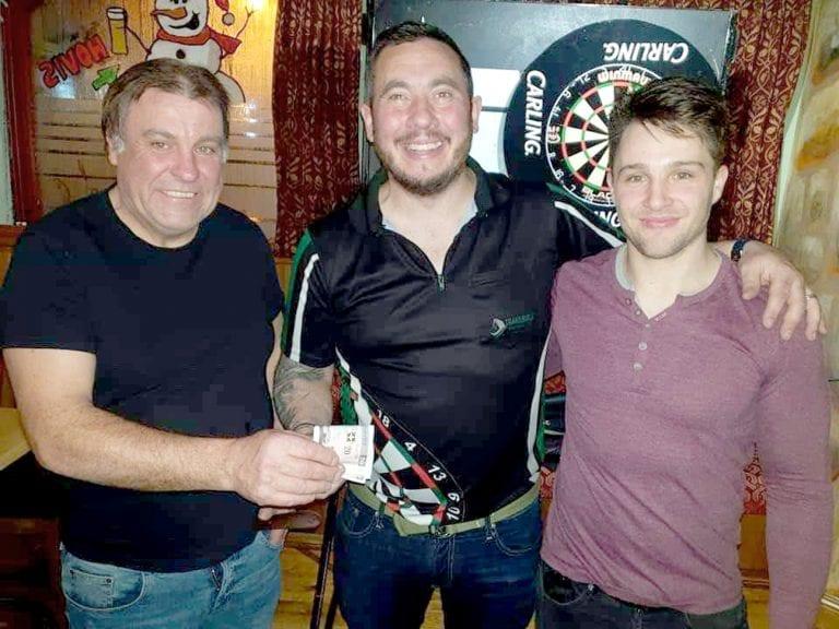 Blind pairs darts tournament in Castlewellan