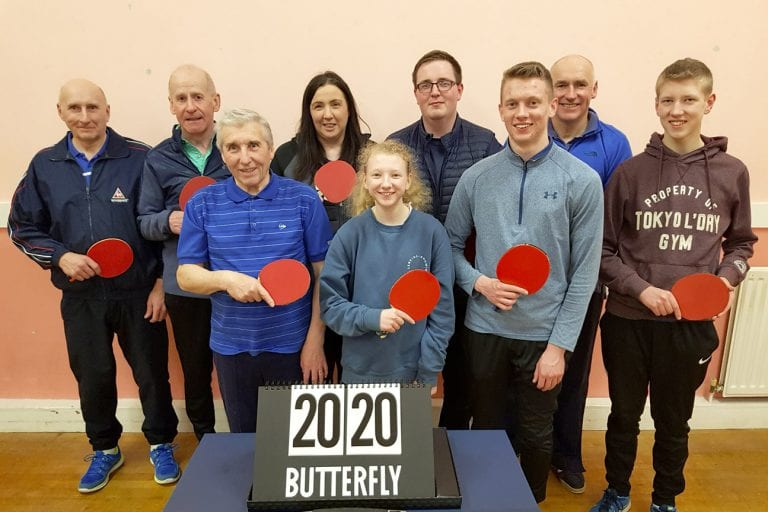 East Down Churches Table Tennis League stage annual charity match