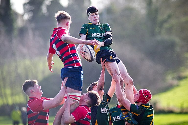 Valiant first half but Down High rugby team exit Schools' Cup