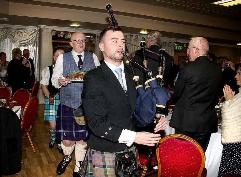 Ulster-Scots culture and talent is showcased at Burns Night
