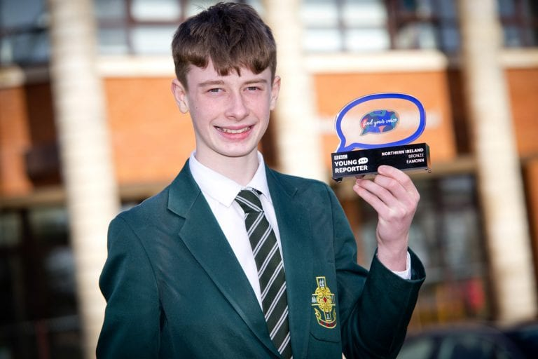 Eamonn impresses judges in Young Reporter of the Year competition