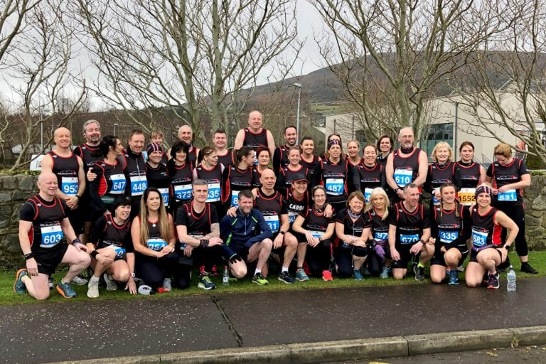 Murlough AC runners in Carlingford for their favourite race