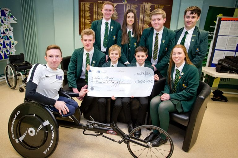Down High supports wheelchair racer Andrew