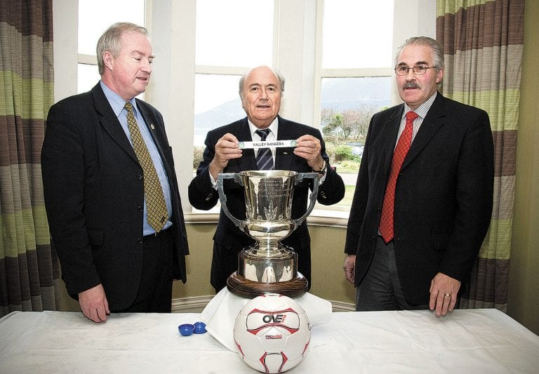 The day Sepp Blatter made the Harry Clarke Cup draw