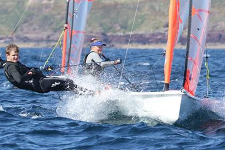 Luke represents Northern Ireland in virtual regatta