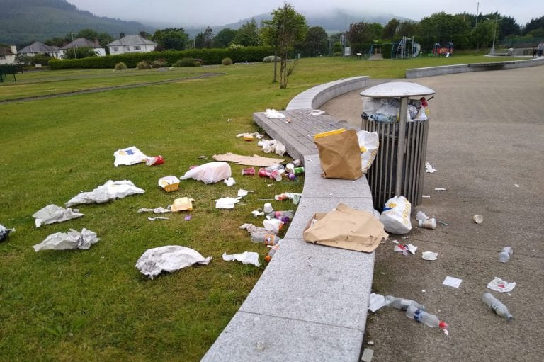 Alarm at widespread litter levels