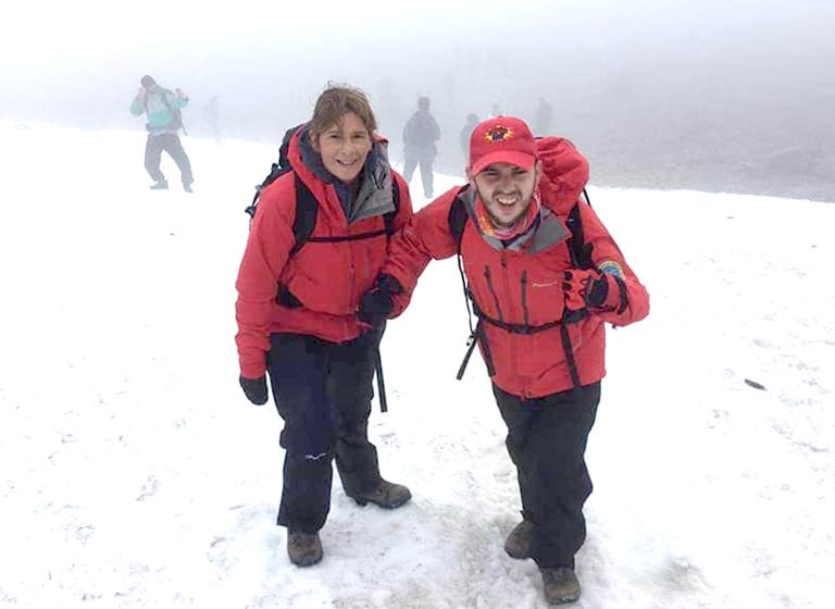 Inspirational Nathan climbs mountains for three great causes