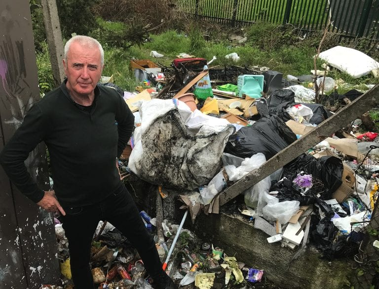 Fears over fly-tipping in residential area of Kilkeel