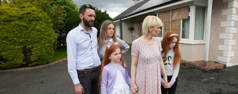 Family's terror as home is attacked