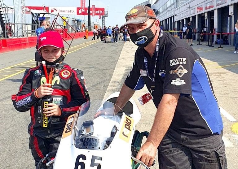 Teenage motorcycle racer makes Donington Park debut
