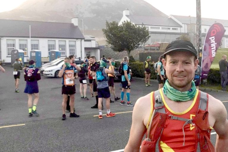 Niall Gibney in Donegal for the Seven Sisters Skyline race