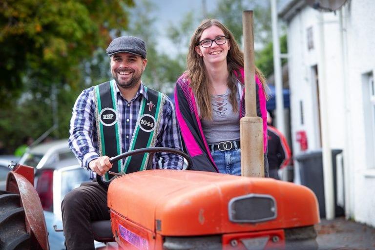 Last Saturday' tractor run in Clough
