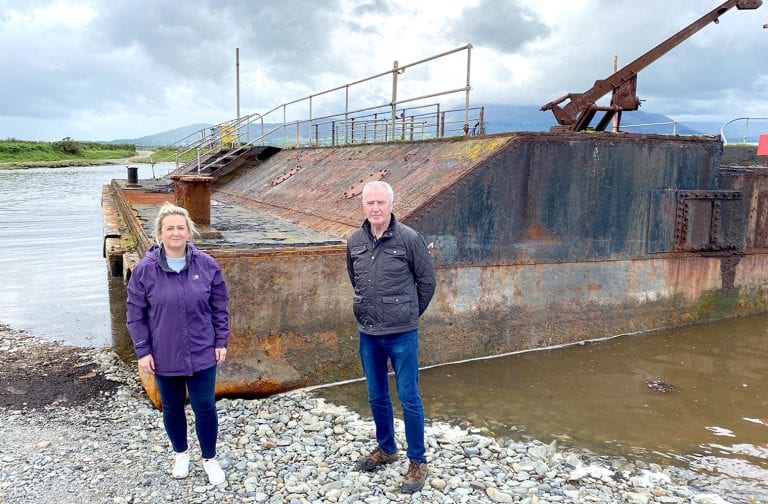 Abandoned barge to be scrapped on-site