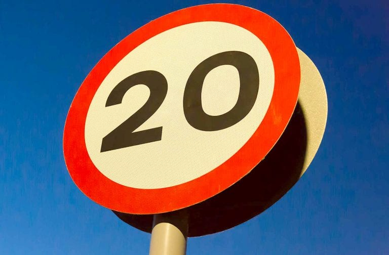 20mph speed limit scheme at a number of local schools