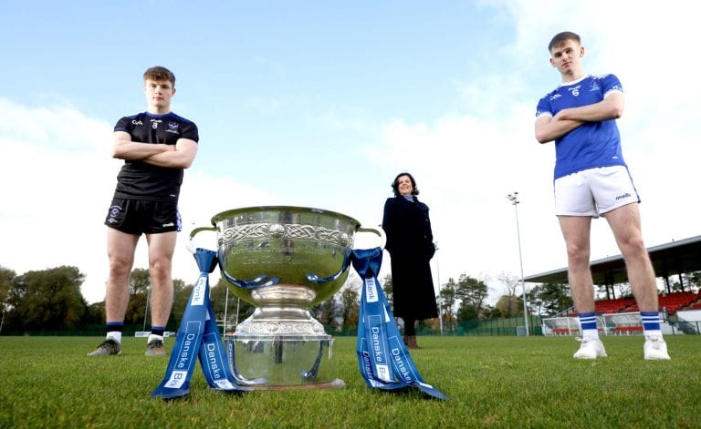 Joint winners St Colman's presented with MacRory Cup