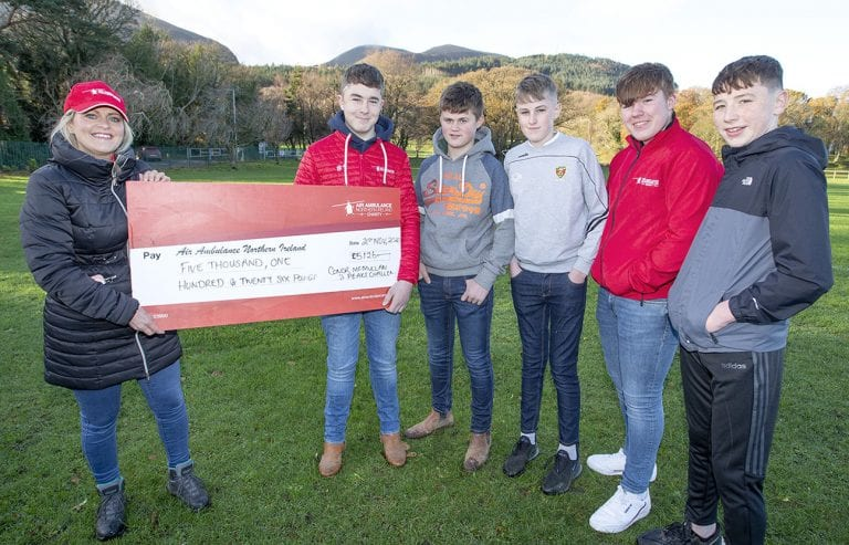 Teenager's fundraising hike for charity that saved his life