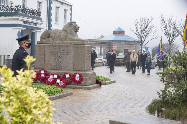 Wreaths laid at poignant service of remembrance