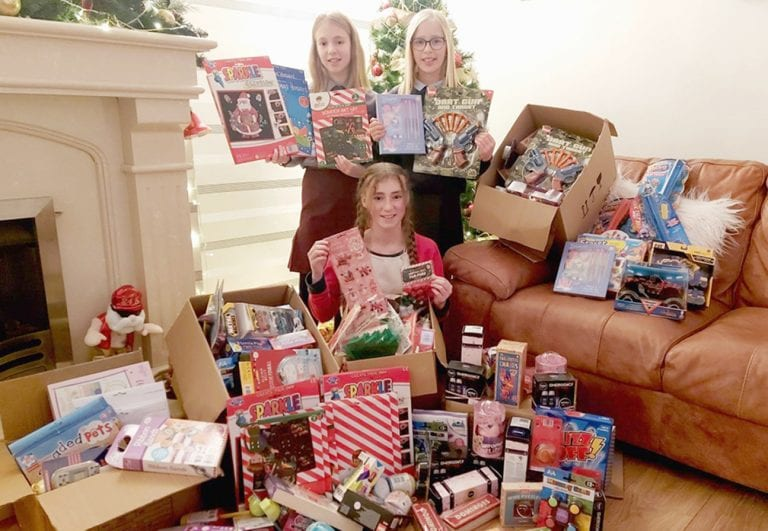 Local sisters provide toys for cancer unit