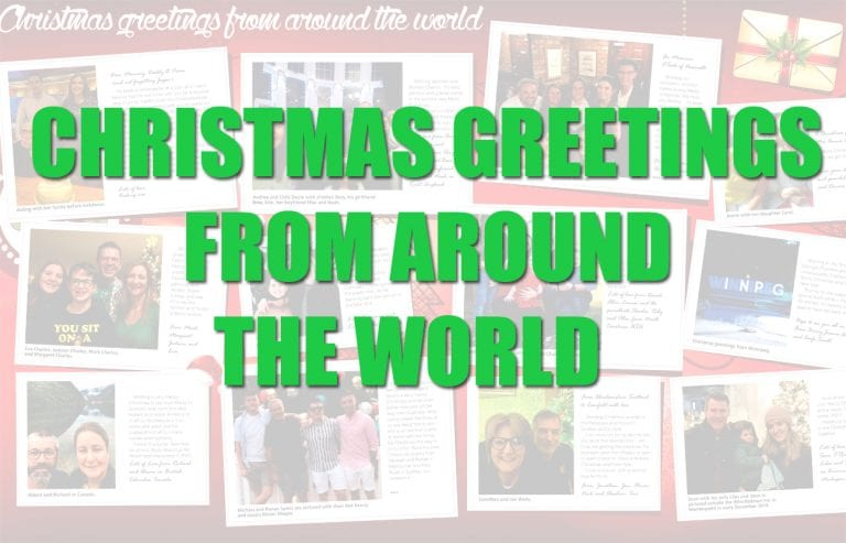 Christmas greetings from around the world