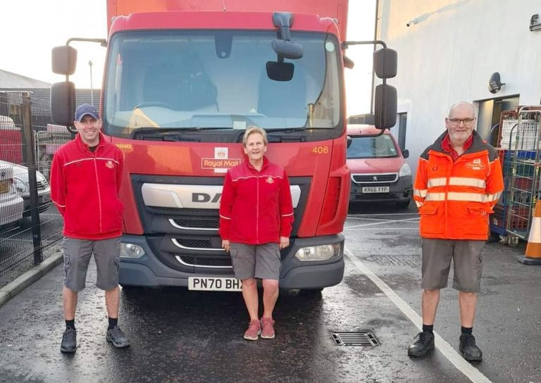 Postal workers' commitment to local charity in no short supply!