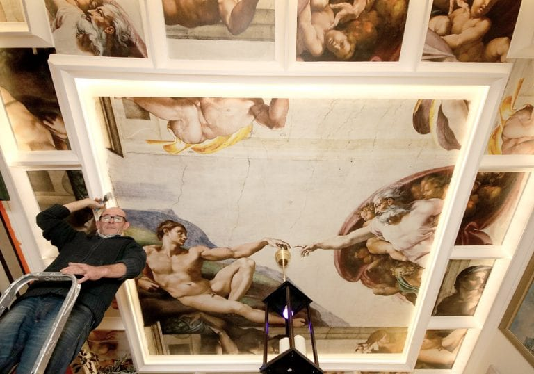 Michael's labour of love sees him transform living room into the Sistine Chapel