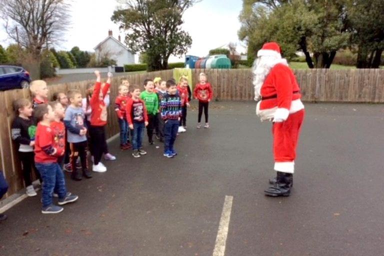 St John's club Santa surprise for children