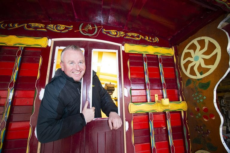 A labour of love and a new lease of life for Romany style horse-drawn caravan