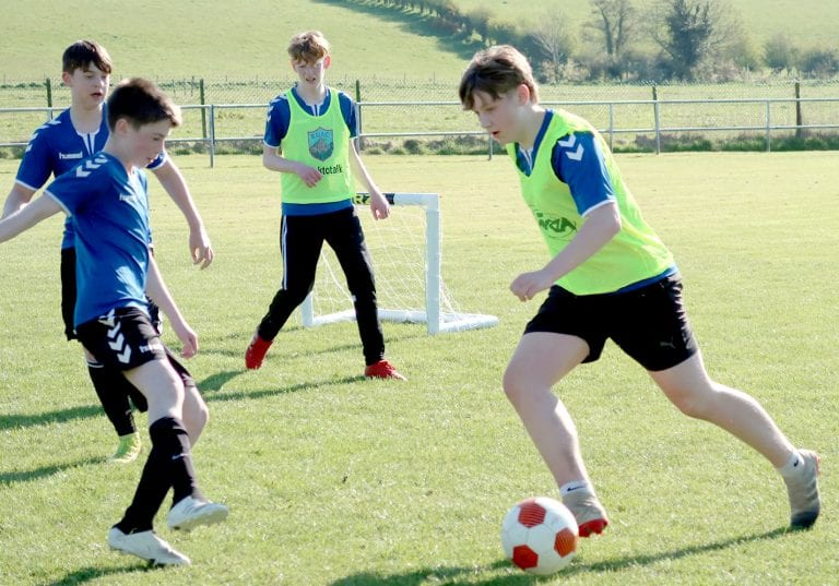 Ballynahinch Youth players finding the net again