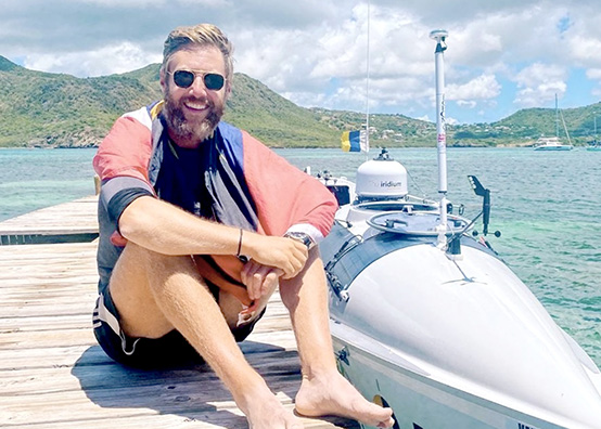 Johnny completes epic Atlantic rowing challenge