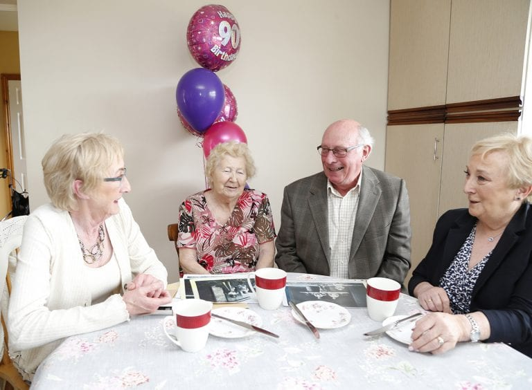 Evelyn reminisces about 'good old days' on her 90th birthday