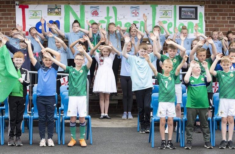 Northern Ireland centenary celebrations at Kilkeel Primary School