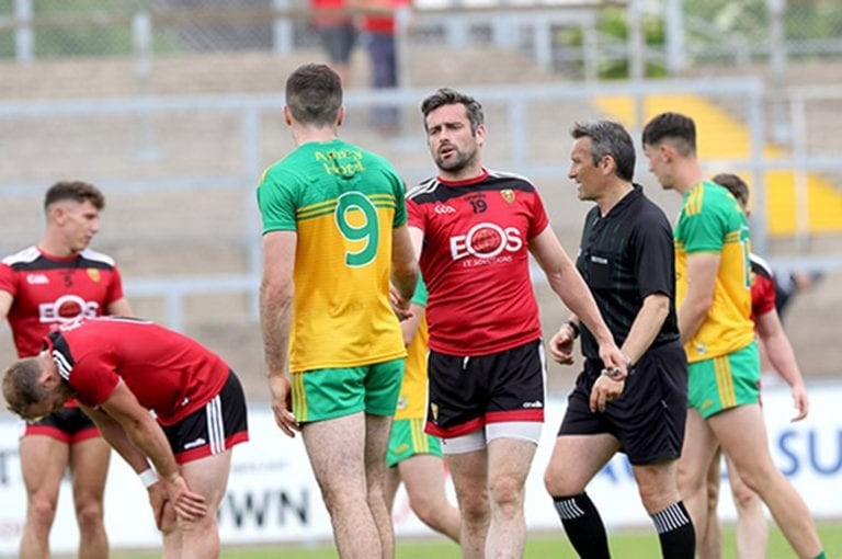 Down footballers shot down by one of the big guns in Pairc Esler