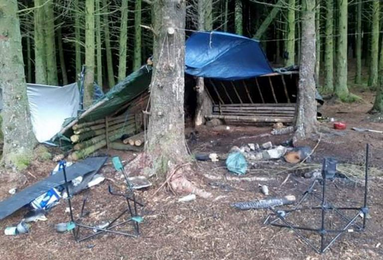 Major clean-up required at site used for partying